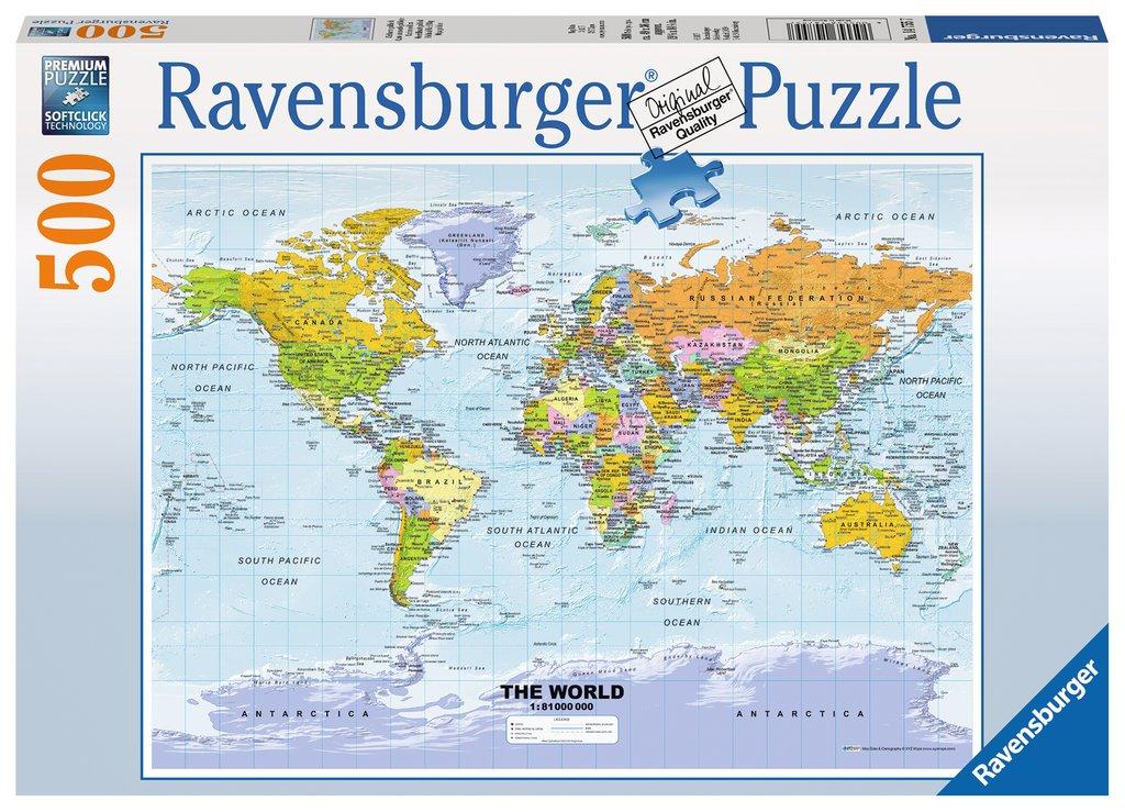 Ravensburger 14755 Puzzle Weltkarte Politisch Idee Spiel