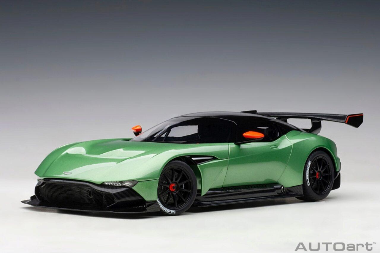 Autoart 70263 1 18 Aston Martin Vulcan 2015 Apple Tree Green Metallic Composite Model Full Openings