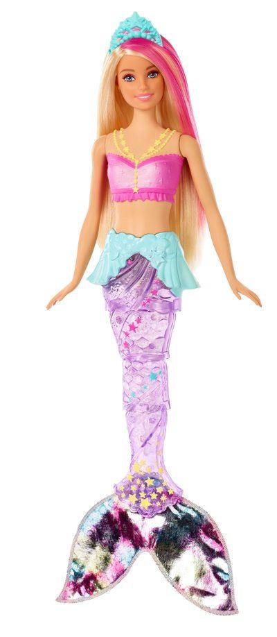 MATTEL GFL82 Barbie Dreamtopia Glitzerlicht Meerjungfrau Puppe mit Licht